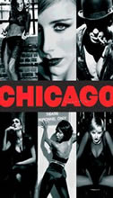 The publicity poster for Chicago the musical
